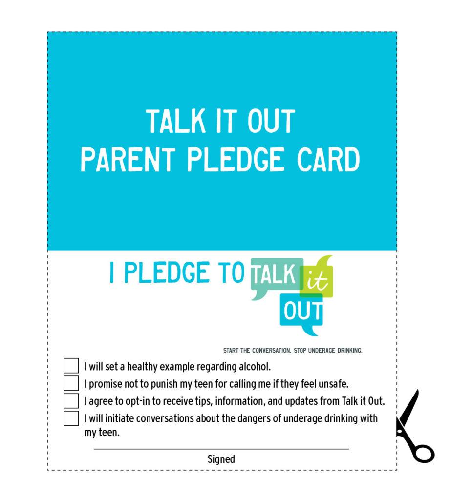 Underage Drinking - Parent Pledge Card